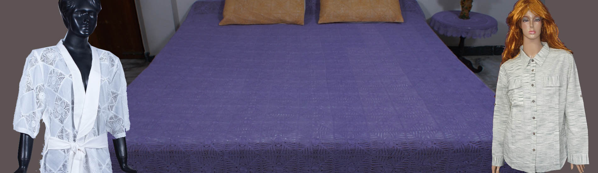 Assorted Tops, Bed Spreads