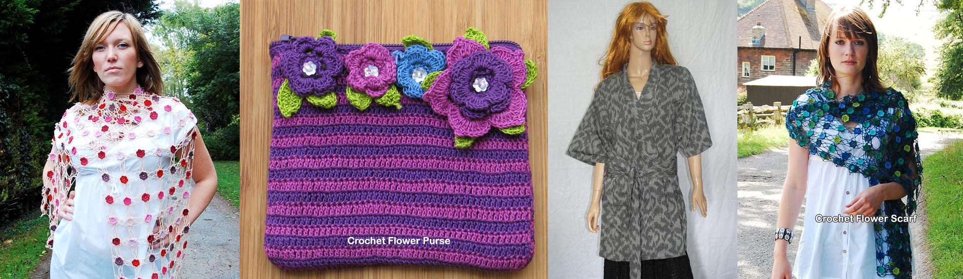 Crochet Flower Purses